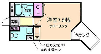 OZ-COURT上野東 の間取り