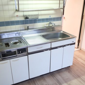 キッチンは独立スペースにあるからお料理に集中できそう!
