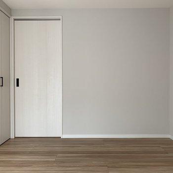 左側の扉はクローゼットです