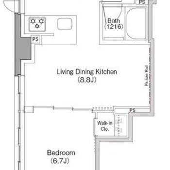 シンプルな1LDKのお部屋です!