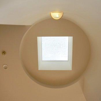 上を見上げると、天窓がありました。