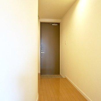 【下階】収納スペースを出ると、玄関があります。
