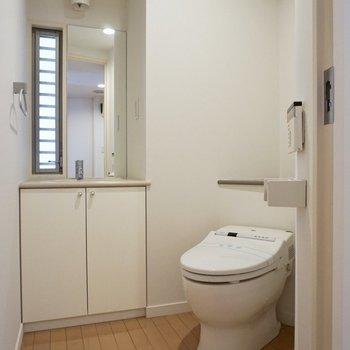 【下階】下階にもトイレがありました。同じスペースに洗面台も。