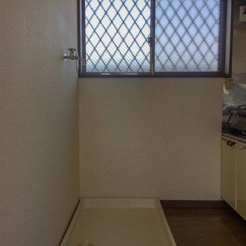 【LDK】洗濯機はキッチンのうしろに。
