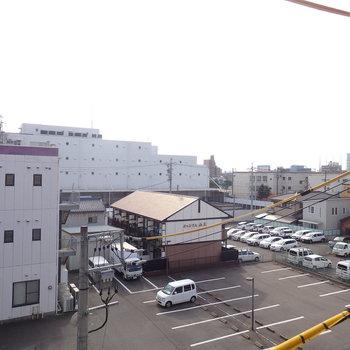 眺望は駐車場。※写真は別部屋