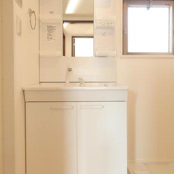 独立洗面台も大きい。※写真は別部屋