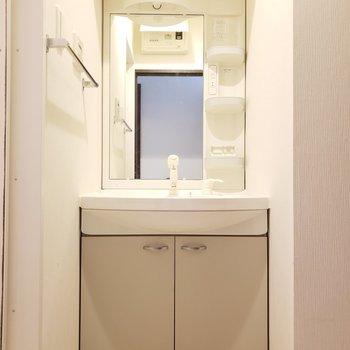 シャワーヘッドにタオル掛けもついていました♪(※写真は5階の同間取り別部屋のものです)