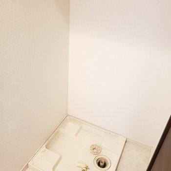 向かい側に洗濯機置き場。(※写真は5階の同間取り別部屋のものです)