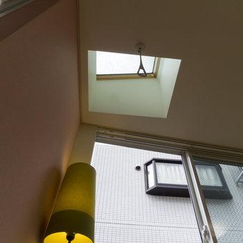 天窓が嬉しいなあ。※家具はサンプルです