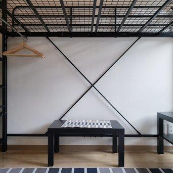 ロフトベッドにすればレイアウトパターンも増えますね!*家具はサンプルです