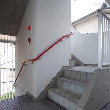 階段の手すりもかわいい