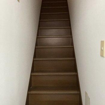 玄関開けると階段