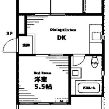 和室と洋室がある2DKのお部屋です