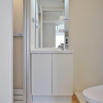 洗面台もキレイ!※写真は5階の同間取り別部屋のものです