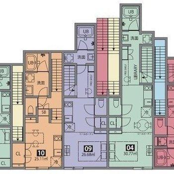 それぞれのお部屋がまるでパズルのピースのようです
