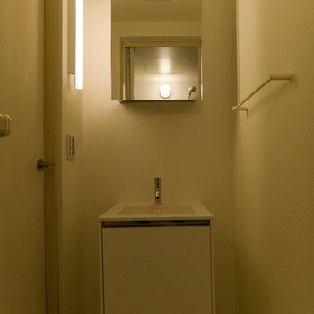 そのお隣が洗面台&脱衣室。