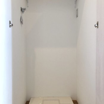 洗濯機は扉で隠すことができます。