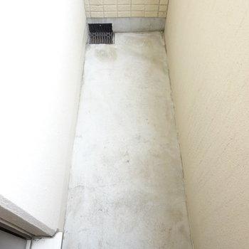 洗面スペースの奥にも小さなバルコニーあり