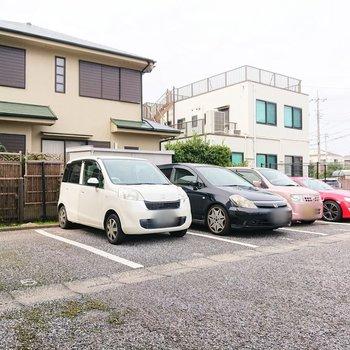 駐車場にも空きがあるようです。