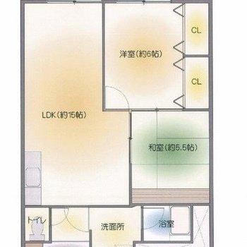お部屋が3つ、贅沢に使えそうですね。