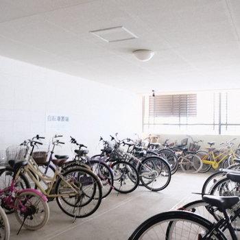 自転車もここなら濡れない。