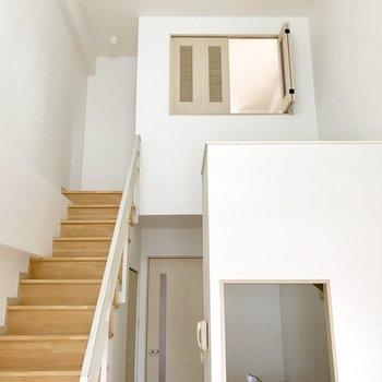 LDKから階段が伸びています。
