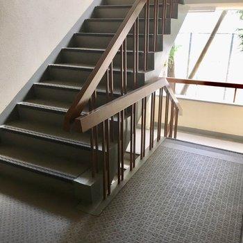 階段はきれいにお手入れされてますよ