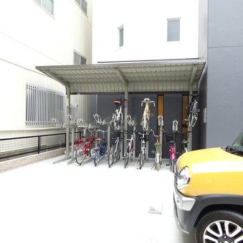 駐輪場あります!