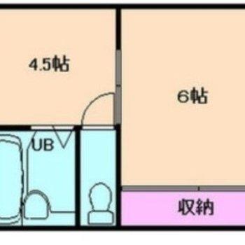 キッチンと寝室を分けて使えます。