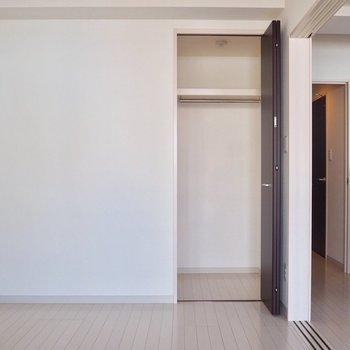 収納はコンパクト。※写真は6階の似た間取り別部屋のものです