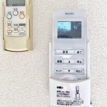 コードレスのモニタ付きインターホンで安心便利。
