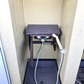 玄関横にペット洗い場!