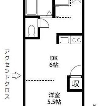 2人入居可のお部屋です。