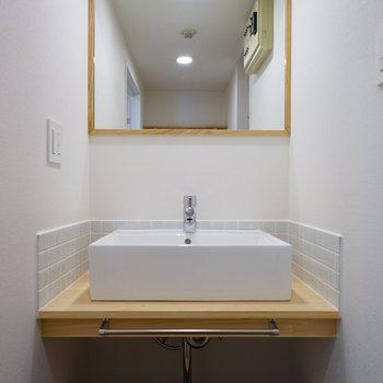 【イメージ】独立洗面台、完成後はこんな感じ!もっと広々のタイプです!