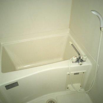 お風呂もシンプルだね〜。※写真は3階の同間取り別部屋、通電前のものです