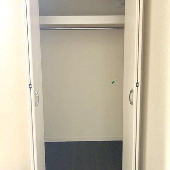 収納スペースは広いですね。※写真は2階の同間取り別部屋のものです