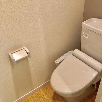 トイレの床は明るいので、汚れにすぐに気づきます!※写真は2階の同間取り別部屋のものです