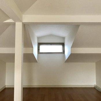 【ロフト】空気がこもりがちなロフトですが、換気に強い窓◯