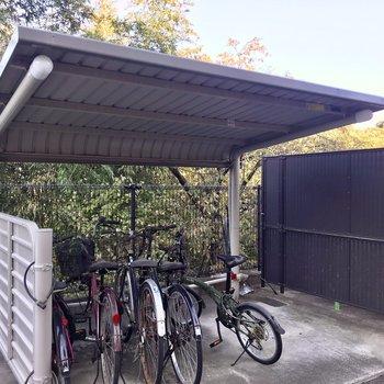 駐輪場も2箇所ほどありました。半屋根付き!