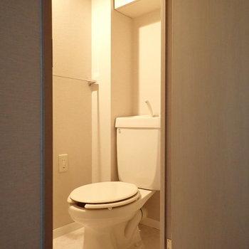 トイレはシンプル。※写真はクリーニング前のものです