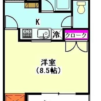 ゆったり広々のお部屋です。