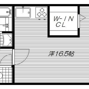 洋室はコ字型。コの真ん中はWICですよ。