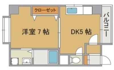 コンチネンタル真田山東 の間取り