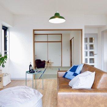 【LDK】い草の香りに引きつられて和室へ※写真の家具はサンプルです