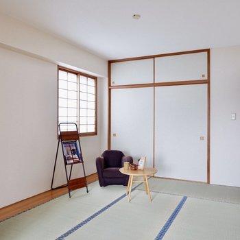 【和室】ミニ障子の窓からは心地いい光が入ります※写真の家具はサンプルです