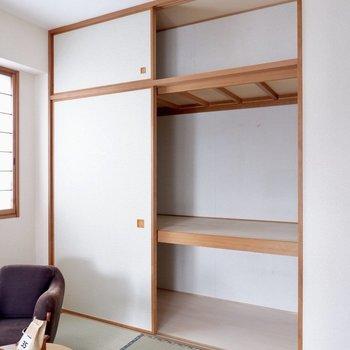 【和室】大容量の押し入れタイプ※写真の家具はサンプルです