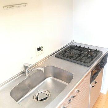 キッチンはシンクがひろい印象!※写真は3階同間取り別部屋のものです
