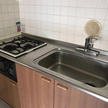 【K】シンクが広くて洗い物も楽々ですね。