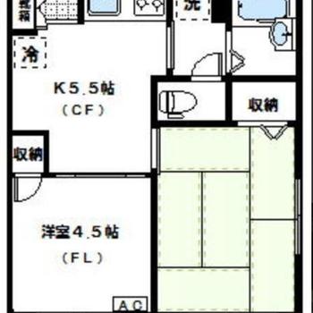 和室が落ち着き空間に〜!※実際は反転間取りのお部屋になります
