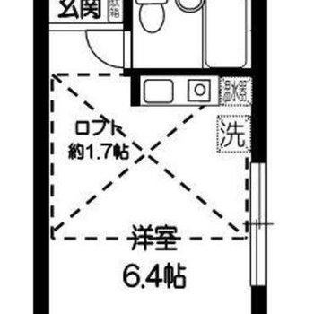 6.4畳ワンルームのお部屋です♪